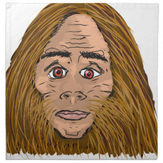 Big Foot Sketch Napkin