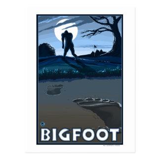 Big Foot walking through Golf Course Postcard