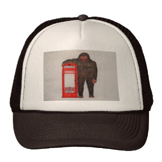 Big foot with phone box, trucker hats
