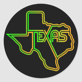 Big Funky Texas Decal Classic Round Sticker