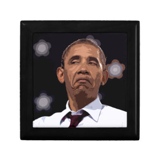 BIG FUNNY OBAMA SMALL SQUARE GIFT BOX