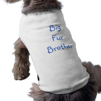 Big Fur Brother Sleeveless Dog Shirt