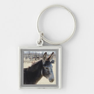 Big Furry Ears Donkey Friend Western Key Ring