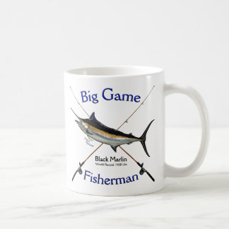 Big Game Fisherman Black Marlin Coffee Mug