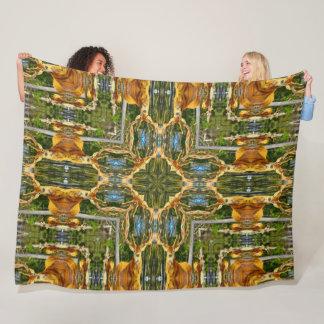 Big Game Hunter Deer Mandala Fleece Blanket