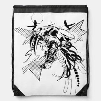 Big Game Skull Graphic Drawstring Backpack