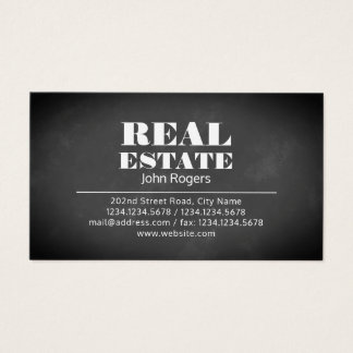 Big giant bold text cover business card