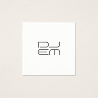 Big giant initials modern square business card