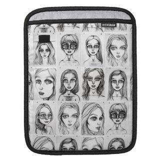 Big Girl Pattern iPad Sleeve