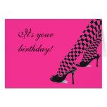 Big Girl Shoes Birthday Card