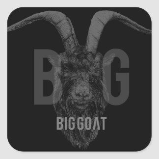 BIG GOΛT GOAT LOGO sticker