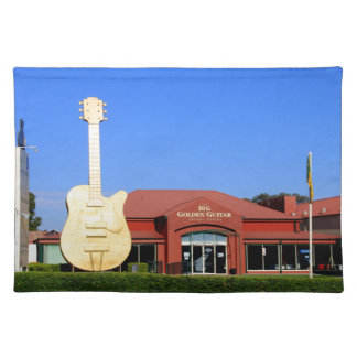 Big Golden Guitar, Tamworth, Australia Placemat