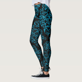 Big Gothic IV Damask Elegant Leggings