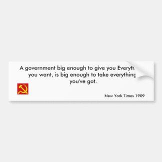 Big Government Bumper Sticker