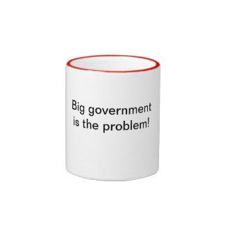 Big government is the problem! ringer mug