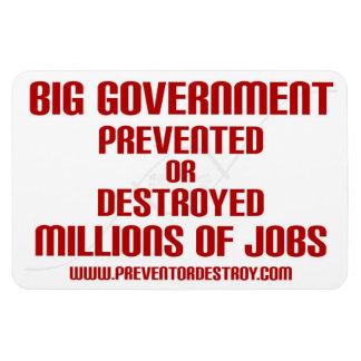 Big Government Prevent or Destroy Millions Rectangular Photo Magnet