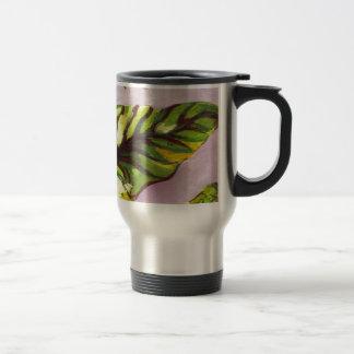 big green leaf mug