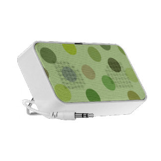 Big Green Polka Dots Whimsical Speaker