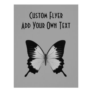 Big Grey & Black Butterfly Flyers