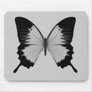 Big Grey & Black Butterfly Mousepad