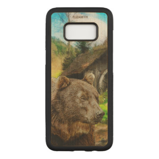 Big Grizzly Bear And Beautiful Mountains Landscape Carved Samsung Galaxy S8 Case