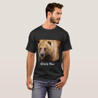 Big Grizzly Bear Black Border T-Shirt