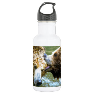 Big Grizzly Bear Kiss 532 Ml Water Bottle