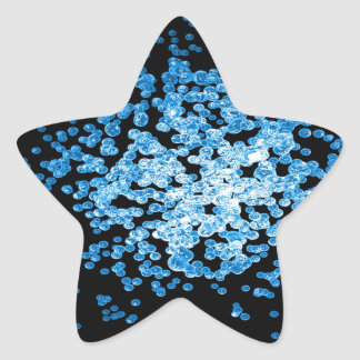 Big group of blue viruses on mycorscope star sticker