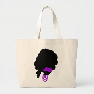 Big hair canvas bag