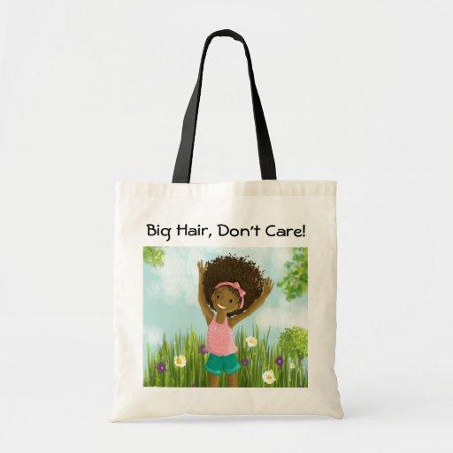 Big Hair, Don't Care  Natural Hair Tote Bag Canvas Bag