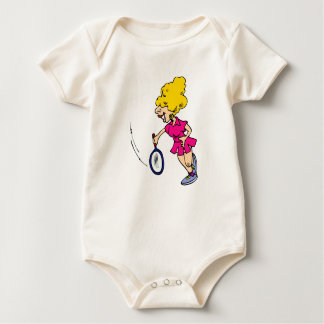 Big hair swing baby bodysuit