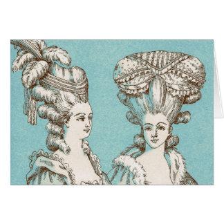 Big Hair Victorian Style, Greeting Card