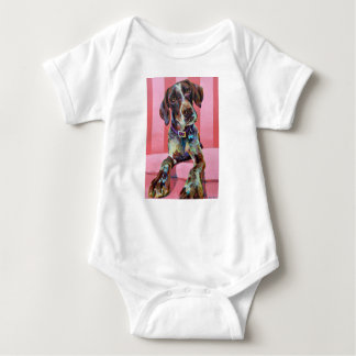 Big Hank the Short Haired Pointer Baby Bodysuit