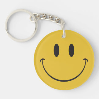 Big Happy Face Smiley emoji Key Ring