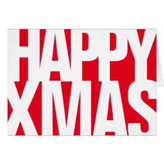 Big Happy Xmas Greetings Card