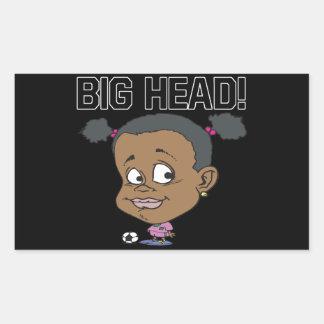 Big Head Rectangular Sticker