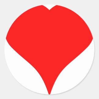 Big Heart Classic Round Sticker
