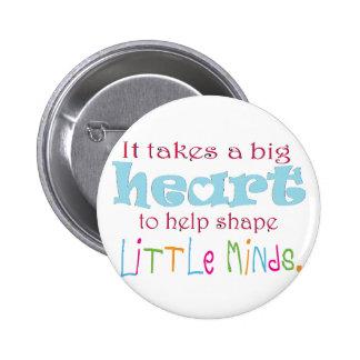 Big Heart: Counselor:Mentor:Teacher 6 Cm Round Badge
