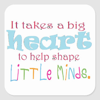 Big Heart: Counselor:Mentor:Teacher Square Sticker
