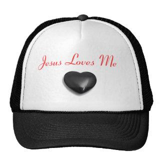 Big Heart Jesus Loves Me B-Ball Cap Trucker Hats