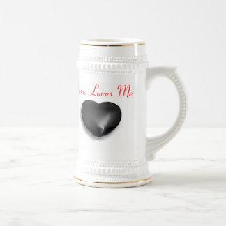 Big Heart Jesus Loves Me Super Stein Beer Steins