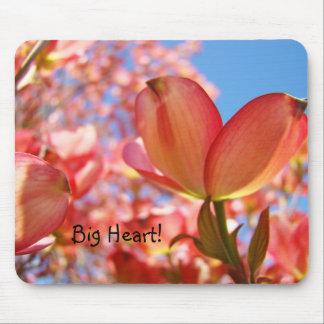 Big Heart! mousepad Pink Dogwood Tree Flowers