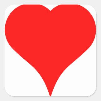 Big Heart Square Sticker