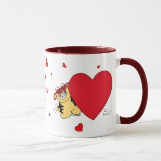 BIG HEARTED CAT Valentine Mug
