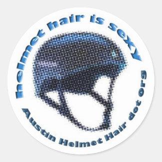 Big Helmet Hair Sticker