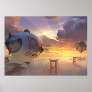 Big Hero Space Ship and Bridge Poster