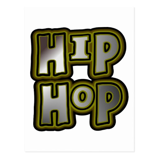 Big Hip Hop Graffiti Multi-Color, Metal Effects Post Cards