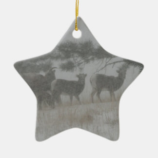 Big Horn Kid in the Snowstorm Ornament