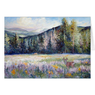 Big Horn Mountain Afternoon Stationery Note Card