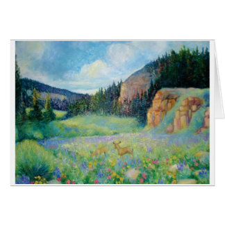 Big Horn Mountain Meadow Stationery Note Card